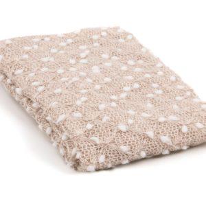 Lacey Knit Wrap Beige