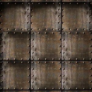 Rusty Steel Cubes Backdrop