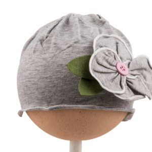 Grey Flower Hat