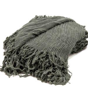 Grey Ruffle Blanket