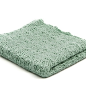 Knitted Blanket Green