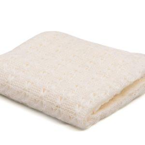 Knitted Blanket White