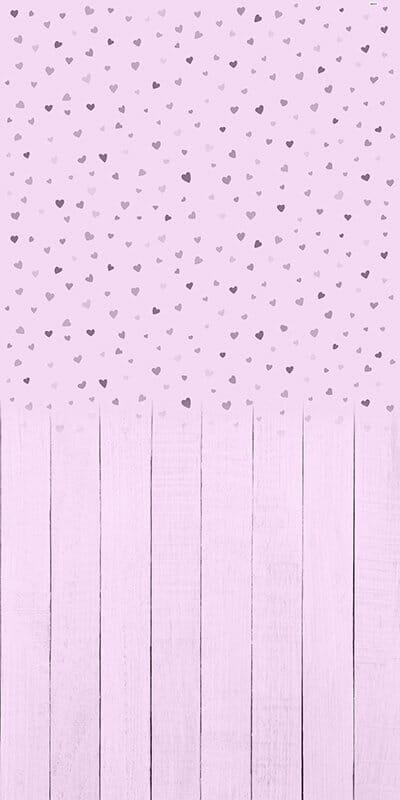 Baby Hearts Lilac Backdrop