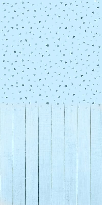 Baby Hearts Blue Backdrop