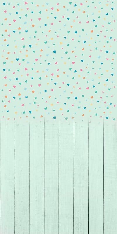 Baby Hearts Mint Backdrop