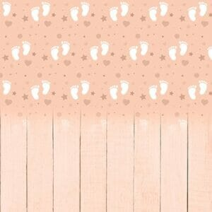 Baby Feet Peach Backdrop