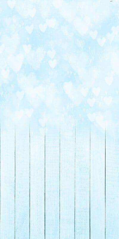 Bokeh Hearts Blue Backdrop