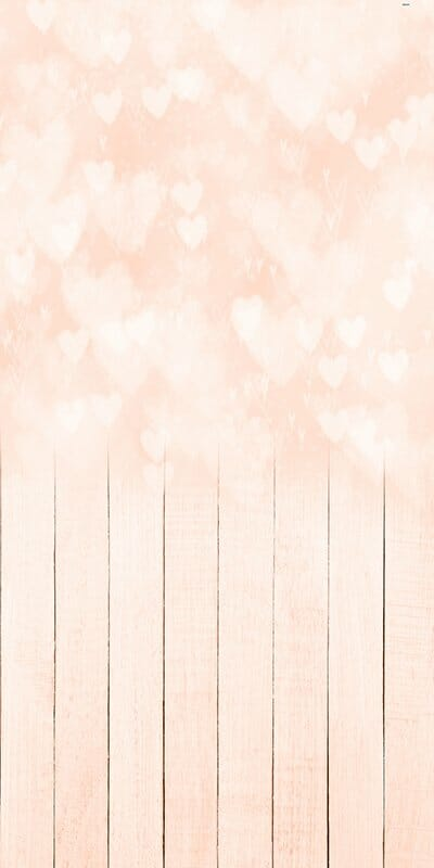 Bokeh Hearts Peach Backdrop