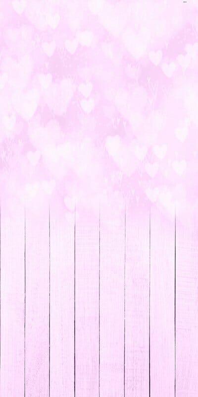 Bokeh Hearts Pink Backdrop
