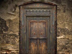 Ancient Door Backdrop