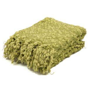 Tassel Blanket Celery