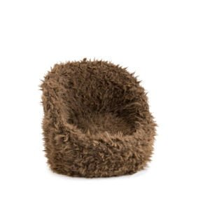 brown chair photo prop