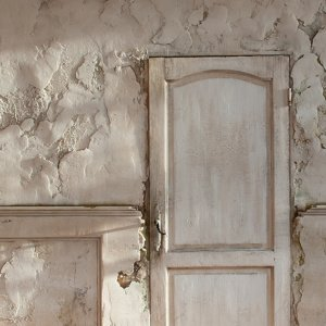 Derelict Mansion Wall Shadows Backdrop