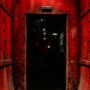 Red Rivet Door Backdrop