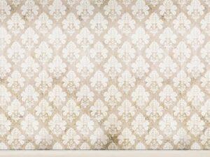 Damask Distressed White Backdrop