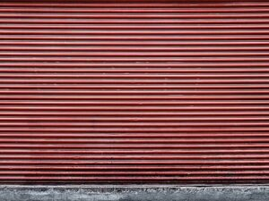 Red Shutter Wall Backdrop