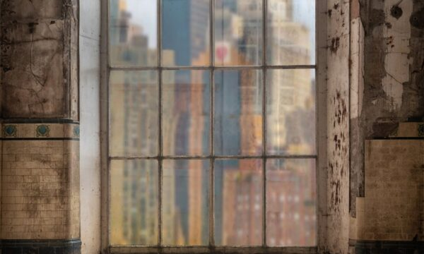 Derelict Tiled Window NY Backdrop