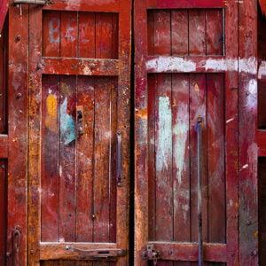 Red Barn Door Custom
