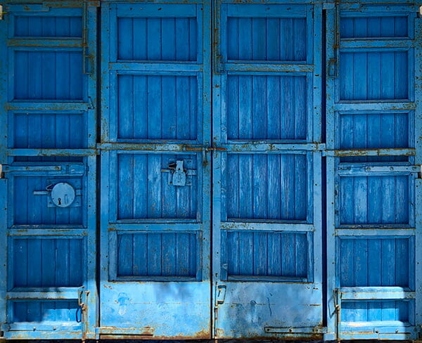 SPMP858 Blue Barn Door - Extra Large Vinyl 9.84ft x 8ft - Used To Test