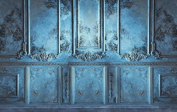 Antique Wall Blue