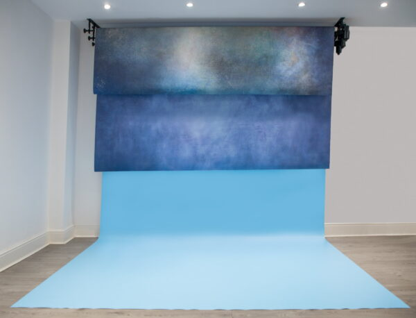 Motorised 6 Roller System and 6 Large Double ProFabric Backdrops Plus Large Floordrop Bundle