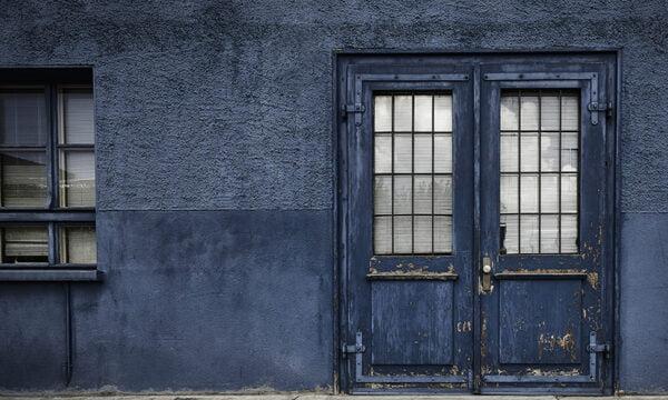 Blue Street Scene